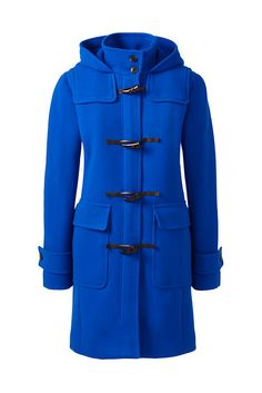 Women's Stadium Wool Duffle Coat - Dressy or casual, this coat fits the occasion. It features many design details - front and back yoke, leather toggles, button-tab cuffs. (affiliate link)
