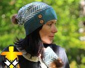 bonnet en Alpaga, chevrons 2 : Chapeau, bonnet par aufildesneiges sur ALittleMarket
