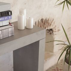 Concrete Console Tables in Industrial Designs With Steel Frame Only At Smithers Stores Uk Clean Concrete, Concrete Design, Concrete Furniture, Furniture Care, Console Table Next, Cool Tables, Cool Store, Simple Lines, Retro Design