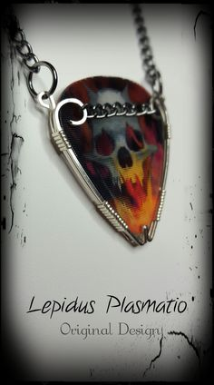 NOTE: For J. Check Site out for more<3 Sterling silver guitar pick holder necklace by Lepidus Plasmatio