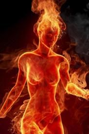 fire elemental—but they actually have a much longer neck than humans