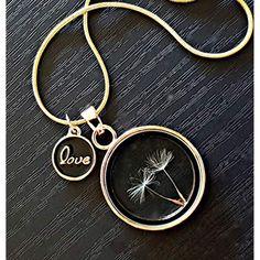 08cec2ffbfa3 Collar de oro medallón con cadena de oro 18k Collar de diente de león con  caja