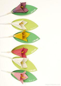DIY: egg carton lilies