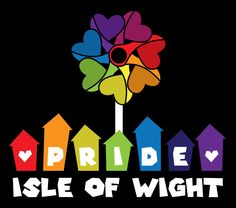The logo that we created for the fabulous Isle of Wight Pride! Isle Of Wight, Pink Eyes, Pride, Writing, Create, Logos, Fun, Design, Logo