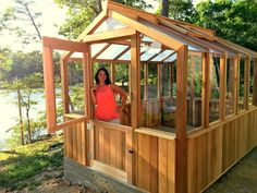 Cedar-Built Greenhouses-purchase a greenhouse kit.