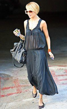 Nicole Richie style, Balenciaga bag