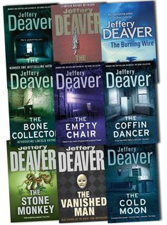 Jeffery Deaver, Lincoln Rhyme Novels....ohhh yea! Read every single one of them and i have 4 of them....if only i could find the others in my country, i would buy them
