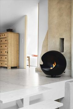 Fireplace - free standing. Lovely