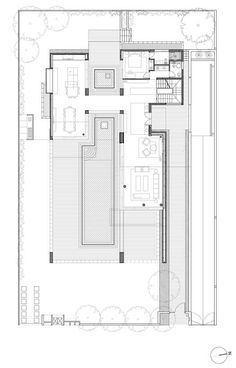 Built by Gal Marom Architects in Caesarea, Israel with date Images by Itay Sikolsky. Villa C. Is a contemporary house which is located in the ancient city of Caesarea, Israel. The position of the villa. Layouts Casa, House Layouts, Home Design Floor Plans, House Floor Plans, Architecture Plan, Residential Architecture, The Plan, How To Plan, Large Floor Plans