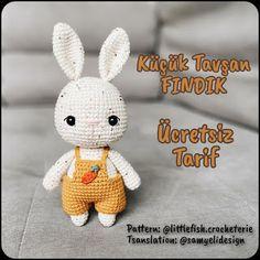 Crochet Rabbit Free Pattern, Crochet Dolls Free Patterns, Crochet Bunny Pattern, Crochet Patterns Amigurumi, Free Crochet, Amigurumi Doll, Stuffed Toys Patterns, Crochet Projects, Crochet Roses