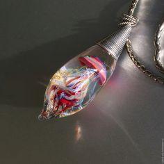 Купить VIP Кармен:) Кулон . - комбинированный, кулон, медуза, аквариум, серебро, подарок, авторские украшения