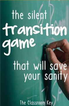 The Silent Transition Game that will Save Your Sanity - try this when you need a minute to get ready for your next lesson, a great trick for elementary teachers Education Easy Classroom Management Hacks - The Classroom Key Classroom Management Strategies, Classroom Procedures, Teaching Strategies, Teaching Ideas, Behaviour Management, Classroom Discipline, Management Games, Student Teaching, Elementary Teacher