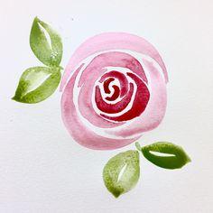 Easy Watercolor Rose Tutorial