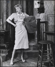 """Elaine Stritch as Grace Hoylard in Broadway's """"Bus Stop"""". 1955-1956. Museum of the City of New York."""