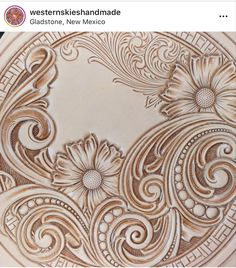 Leather Tooling Patterns, Leather Pattern, Leather Carving, Metal Engraving, Tooled Leather, Leather Projects, Woodburning, Pyrography, Leather Craft