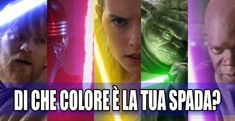 STAR WARS: di che colore sarebbe la tua spada laser? QUIZ - Finn Star Wars - Ideas of Finn Star Wars #finn #starwars #sw -