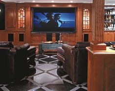 Home Theater in a Finished Basement   Home Theaters   Photos   Media Rooms   Living Spaces   This Old House