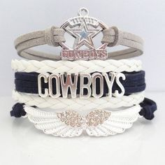 2016 Recommend Infinity Love COWBOYS football Team Sports magnetic Bracelet believe Wristband friendship Bracelets