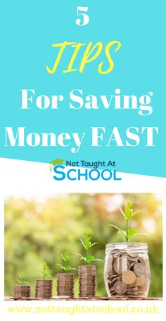 5 tips for saving money FAST, check out our latest article which shares these great tips. Ways To Save Money, Money Tips, Money Saving Tips, How To Make Money, Saving Ideas, Money Fast, Earn Money, Money Today, Financial Tips