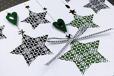 """Handmade Christmas Card """"Shooting Stars"""""""