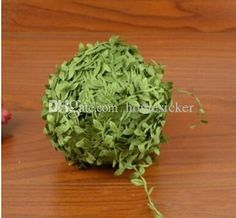 Wholesale cheap  online, color - Find best brand new 20m artificial green flower leaves rattan diy garland accessory for home decoration hairbands headband hairflowers at discount prices from Chinese decorative flowers & wreaths supplier - homesicker on DHgate.com.