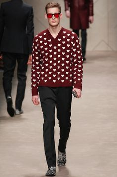 Graphic pop.  Sophisticated with flair. Burberry Prorsum, Fall 2013.(I think I would marry him on the spot)