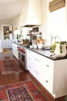 Vintage Persian Kilim & Turkish Rugs In The Kitchen  Light Wood Cool Kitchen Rug Design Inspiration