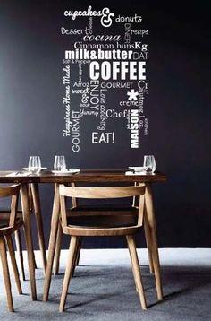 vinilo decorativo mural cocina o comedor coffee! 60x100cm. www.avalon1.com.ar