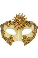 God of the Sun Masquerade Mask (Gold)