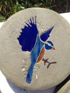 Blue Bird Stepping Stone on Etsy, $10.00 Garden Stones, Blue Bird, Stepping Stones, Rooster, Gardening, Unique Jewelry, Handmade Gifts, Vintage, Etsy