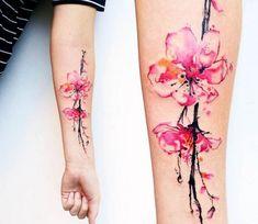 watercolor-sakura-tattoo-arm-ideas.jpg (600×520)
