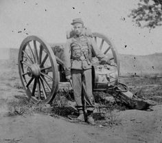 Federal Drummer Boy Gilbert A. Marbury, 22nd New York State Militia. Photo taken at Harpers Ferry, West Virginia