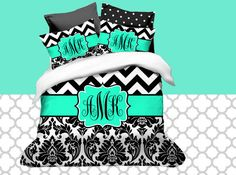 Hey, I found this really awesome Etsy listing at https://www.etsy.com/listing/172106720/custom-chevron-monogrammed-duvet-cover