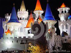 Photo about The Disney hotel at Las Vegas. Image of blue, orange, light - 57679466 Las Vegas Photos, Disney Hotels, Editorial, Objects, Tower, Candles, Orange, Birthday, Blue