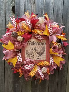 Your place to buy and sell all things handmade Christmas Mesh Wreaths, Fall Wreaths, Diy Wreath, Tulle Wreath, Burlap Wreaths, Wreath Crafts, Wreath Ideas, Deco Mesh Wreaths, Ribbon Wreaths