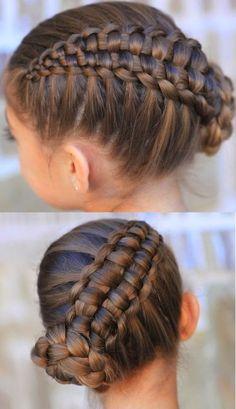 Coiffure cheveux longs.