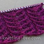 Branch Lace Knitting Stitch Pattern Simple lace stitch knitting pattern worked over four rows! Abbreviations: k = knit p = purl = Lace Knitting Stitches, Lace Knitting Patterns, Knitting Charts, Lace Patterns, Arm Knitting, Knitting Designs, Stitch Patterns, Knit Crochet, Seersucker