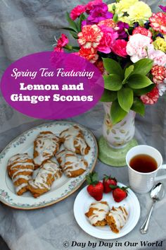 Enjoy a lovely Spring Tea Party with Lemon and Ginger Scones #recipe #CreativeHOP