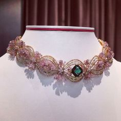 A flawless emerald encircled by pink and white diamonds - our exclusive #TheoFennell choker is truly exquisite.