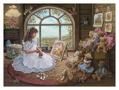Jenny Paints Her Bears