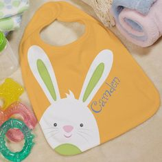 Personalized Baby Easter Bib | GiftsForYouNow.com