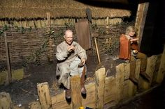 The Jorvik Viking Centre in York, England. Underground and you get a ride through showing artifacts and dioramas of how Vikings lived