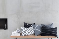Seitti-, Aita-, Sormus-, Kenno and Polku- cushion covers