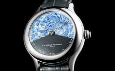 Laurent Ferrier Galet Secret Tourbillon Double Spiral Meissen - Monochrome Watches