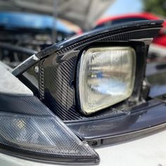 Carbon fiber hedlights surround and cooling panel - Carbon Microsystem