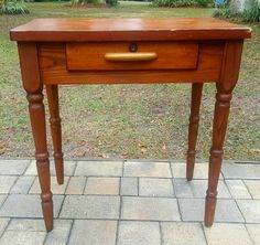 Table wooden work stand side accent table drawer cherry wood Sheraton primitive | Antiques, Furniture, Tables | eBay!