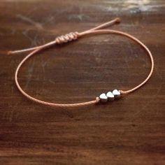Rose Gold Friendship Bracelet - Best Friend Gift - Gift for Her - Sister Bracelet - Rose Gold Bracelet - Heart Bracelet - Bridesmaid Gift