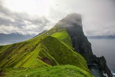 The Kallur Lighthouse in the Faroe Islands.