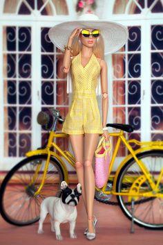 Jumpsuit by MicroSonik Barbie Fashion Royalty, Fashion Dolls, Barbie Dress, Barbie Clothes, Pretty Dolls, Beautiful Dolls, Love Fashion, Retro Fashion, Poppy Parker