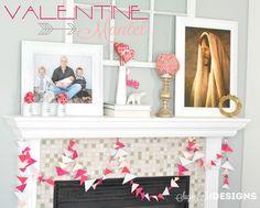sugartotdesigns: Valentine Mantel Decor